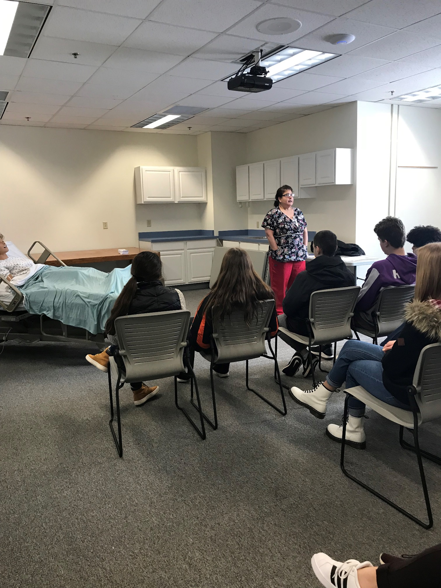 CNA in-class instruction