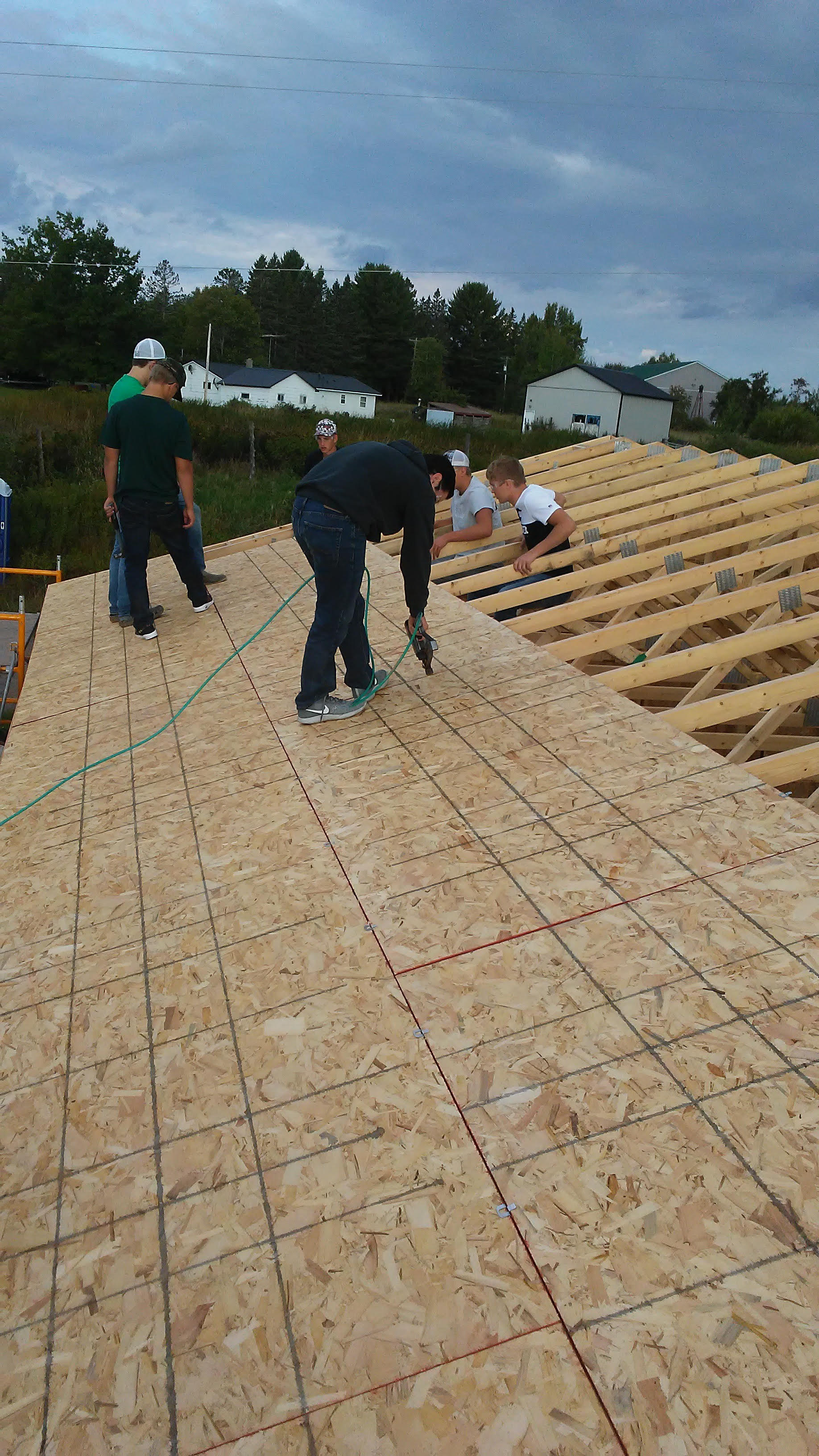 Garage construction on roof
