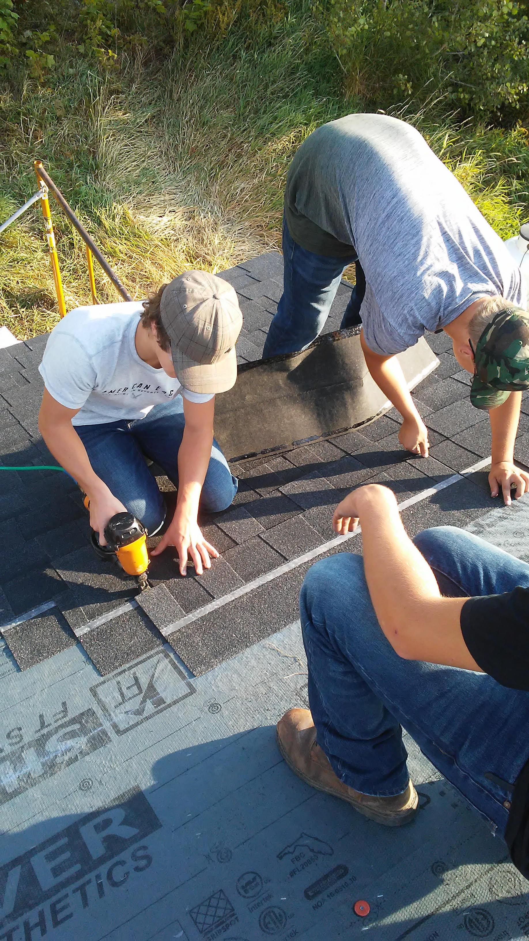 Roofing shingle installation