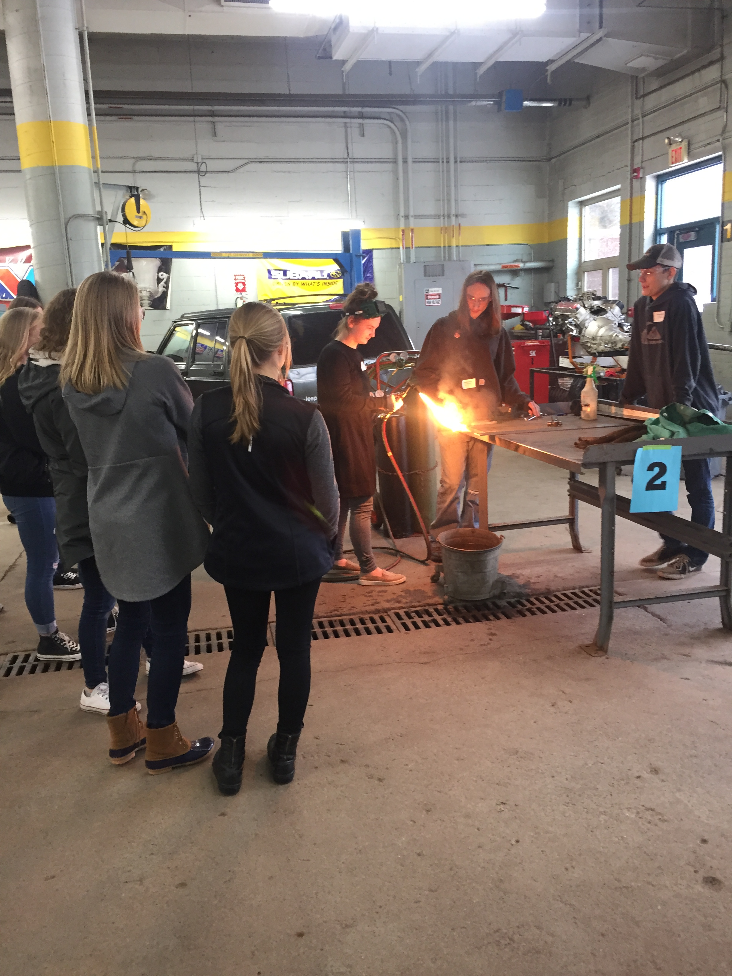 Automotive class with acetylene torch