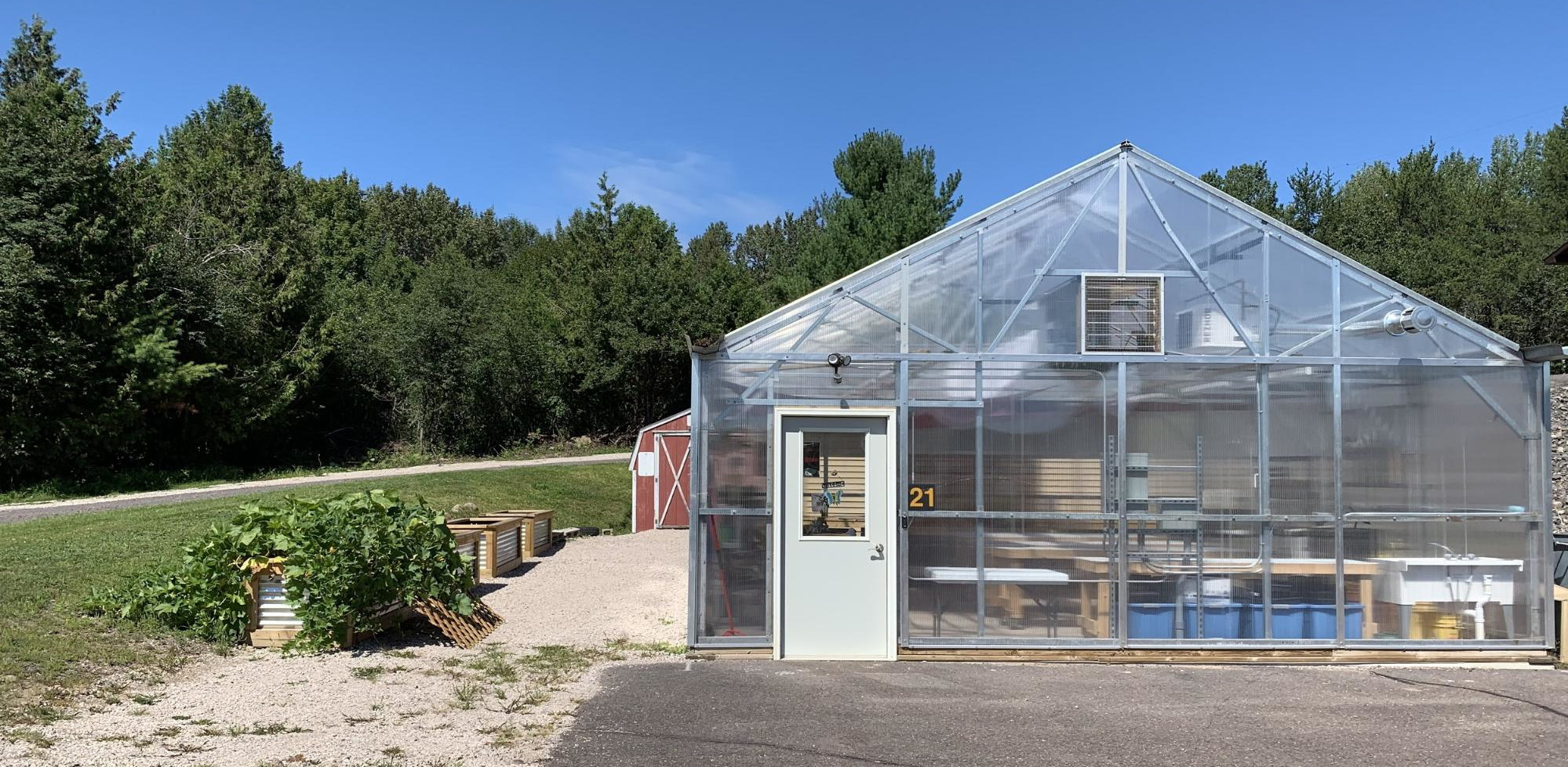 The CCISD greenhouse, located at the CCISD building in Hancock.